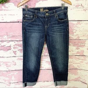 KUT FROM THE KLOTH Blue Rolled Cuff Denim Jeans 2
